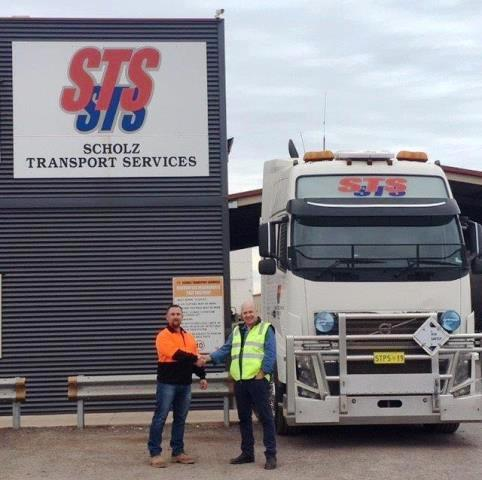 Eddie Scholz with Peter Cochrane at the STS Head Office in Whyalla